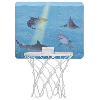 Sharks Mini Basketball Hoop