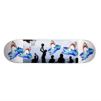 Sharks Ocean Ship Basketball Sports Fun Destiny Skateboard