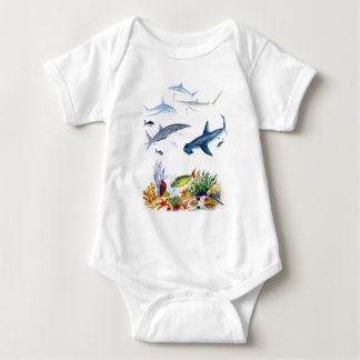Sharks on the reef t-shirts