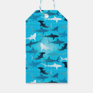sharks! pack of gift tags