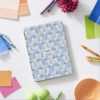 Sharks Pattern custom monogram device covers iPad Air Cover