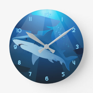 Sharks swimming clocks