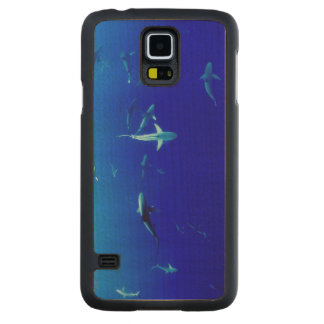 Sharks Underwater Carved Maple Galaxy S5 Case