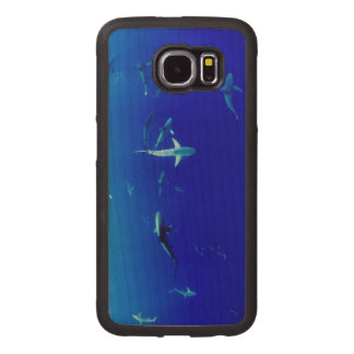 Sharks Underwater Wood Phone Case