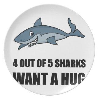 Sharks Wants Hug Plate