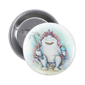 Sharky 2 Inch Round Button