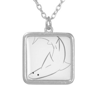 Sharky Friend Silver Plated Necklace