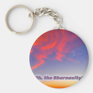 Sharnacity Basic Round Button Keychain