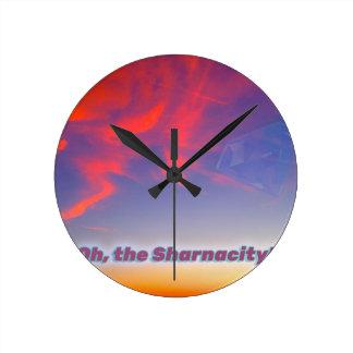 Sharnacity Round Clock