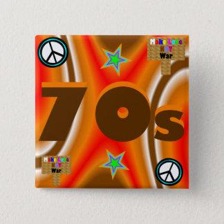 Sharnia's '70s' Square Badge 2 Inch Square Button