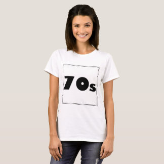 Sharnia's '70s White Design' T-Shirt