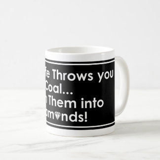 Sharnia's Coal Diamonds Quote Mugs (Blk)