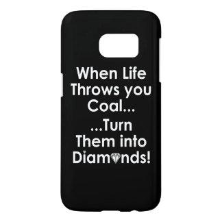 Sharnia's Coal Diamonds Quote Phone Case (Blk)