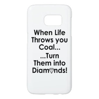 Sharnia's Coal Diamonds Quote Phone Case (Wht)