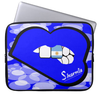 "Sharnia's Lips Argentina Laptop Sleeve 15"" Blu Lip"