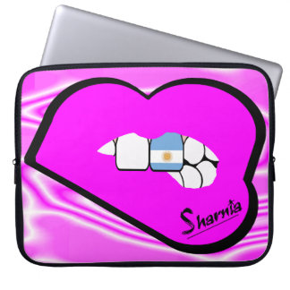 Sharnia's Lips Argentina Laptop Sleeve (Pink Lips)