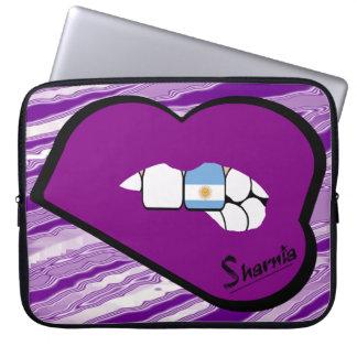 Sharnia's Lips Argentina Laptop Sleeve Purple Lip