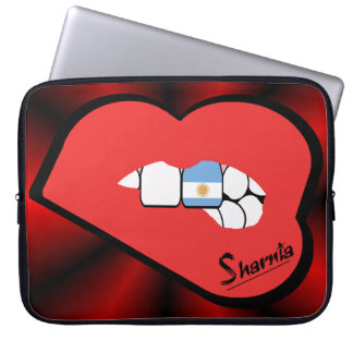 Sharnia's Lips Argentina Laptop Sleeve (Red Lips)