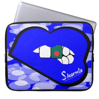 "Sharnia's Lips Bangladesh Laptop Sleeve 15"" BlLi"