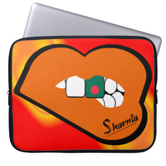 "Sharnia's Lips Bangladesh Laptop Sleeve 15"" OrLi"