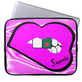 "Sharnia's Lips Bangladesh Laptop Sleeve 15"" Pnk LP"