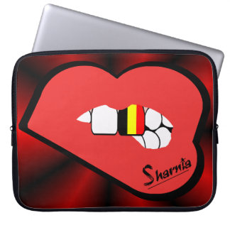 Sharnia's Lips Belgium Laptop Sleeve (Red Lips)