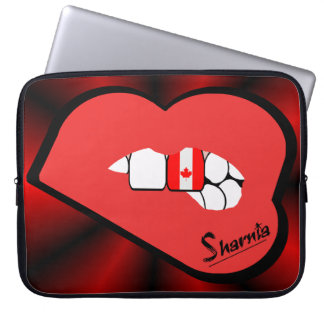 Sharnia's Lips Canada Laptop Sleeve (Red Lips)