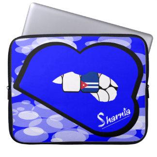 "Sharnia's Lips Cuba Laptop Sleeve 15"" (Blue Lips)"