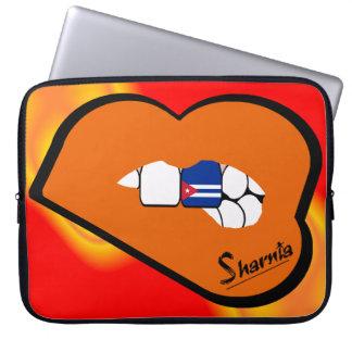 Sharnia's Lips Cuba Laptop Sleeve (Orange Lips)