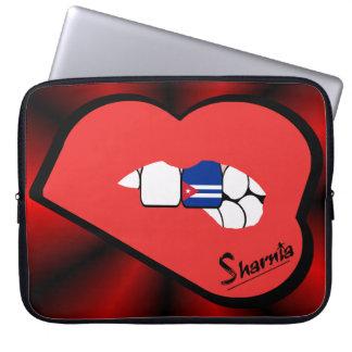 Sharnia's Lips Cuba Laptop Sleeve (Red Lips)