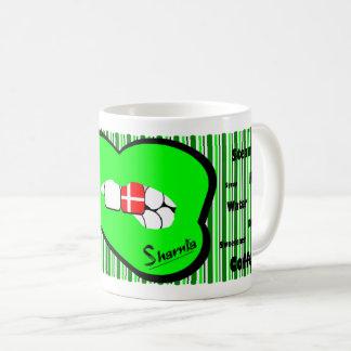 Sharnia's Lips Denmark Mug (GREEN Lip)