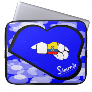 "Sharnia's Lips Ecuador Laptop Sleeve 15"" Blue Lips"