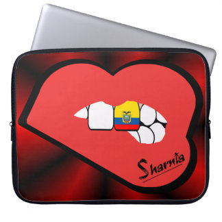 Sharnia's Lips Ecuador Laptop Sleeve (Red Lips)