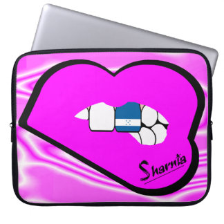 Sharnia's Lips Honduras Laptop Sleeve (Pink Lips)