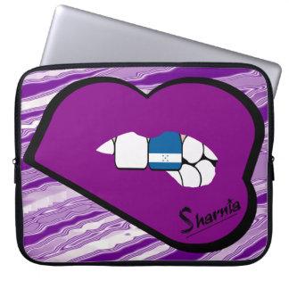 Sharnia's Lips Honduras Laptop Sleeve Purple Lips