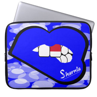"Sharnia's Lips Indonesia Laptop Sleeve 15"" BlLi"