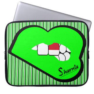 Sharnia's Lips Indonesia Laptop Sleeve (Grn Lips)