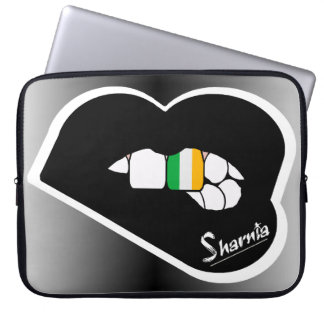 "Sharnia's Lips Ireland Laptop Sleeve 15"" Blk Lips"