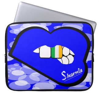 "Sharnia's Lips Ireland Laptop Sleeve 15"" Blue Lips"