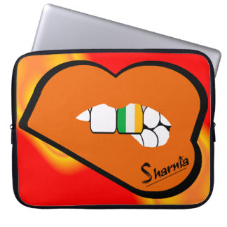 Sharnia's Lips Ireland Laptop Sleeve (Orange Lips)
