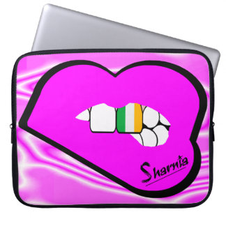 Sharnia's Lips Ireland Laptop Sleeve (Pink Lips)