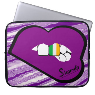 Sharnia's Lips Ireland Laptop Sleeve (Purple Lips)