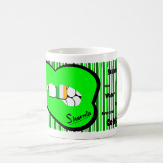 Sharnia's Lips Ireland Mug (GREEN Lip)