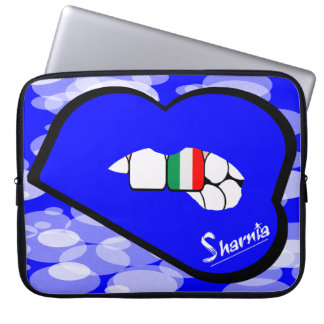 "Sharnia's Lips Italy Laptop Sleeve 15"" (Blue Lips)"
