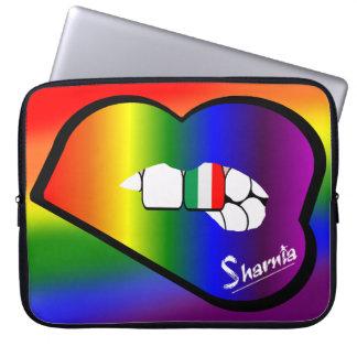 Sharnia's Lips Italy Laptop Sleeve (Rainbow Lips)