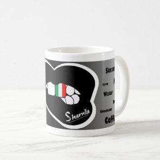 Sharnia's Lips Italy Mug (Blk Lip)