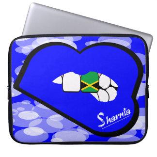 "Sharnia's Lips Jamaica Laptop Sleeve 15"" Blue Lips"