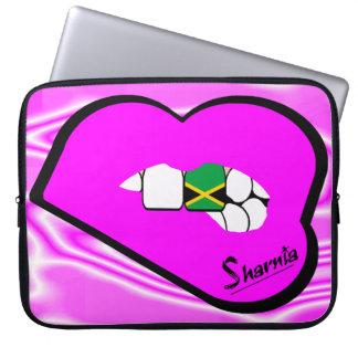 Sharnia's Lips Jamaica Laptop Sleeve (Pink Lips)