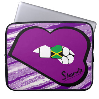 Sharnia's Lips Jamaica Laptop Sleeve (Purple Lips)