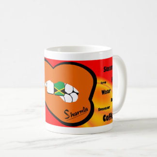 Sharnia's Lips Jamaica Mug (ORANGE Lip)